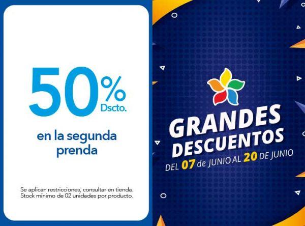 50% DSCTO. EN LA SEGUNDA PRENDA - Plaza Norte