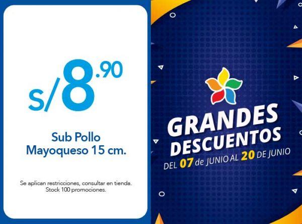 SUB POLLO MAYOQUESO 15 CM. A S/8.90 - Plaza Norte