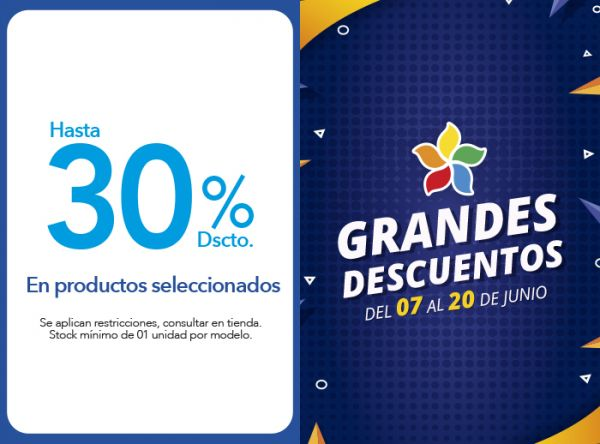 HASTA 30% DSCTO. EN PRODUCTOS SELECCIONADOS - Plaza Norte