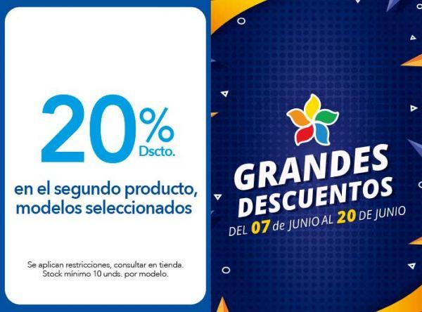 20% DSCTO. EN EL SEGUNDO PRODUCTO, MODELOS SELECCIONADOS - Plaza Norte