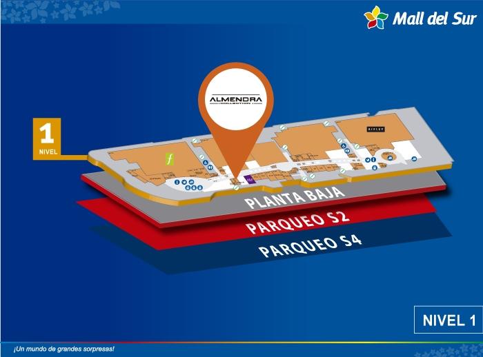 Almendra - Mapa de Ubicación - Mall del Sur