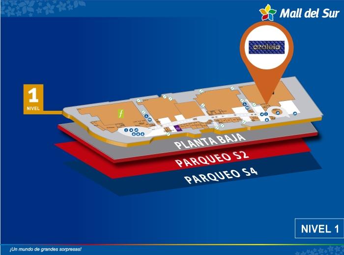 Azaleia - Mapa de Ubicación - Mall del Sur