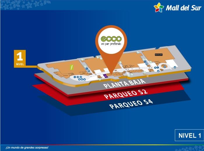 Ecco - Mapa de Ubicación - Mall del Sur