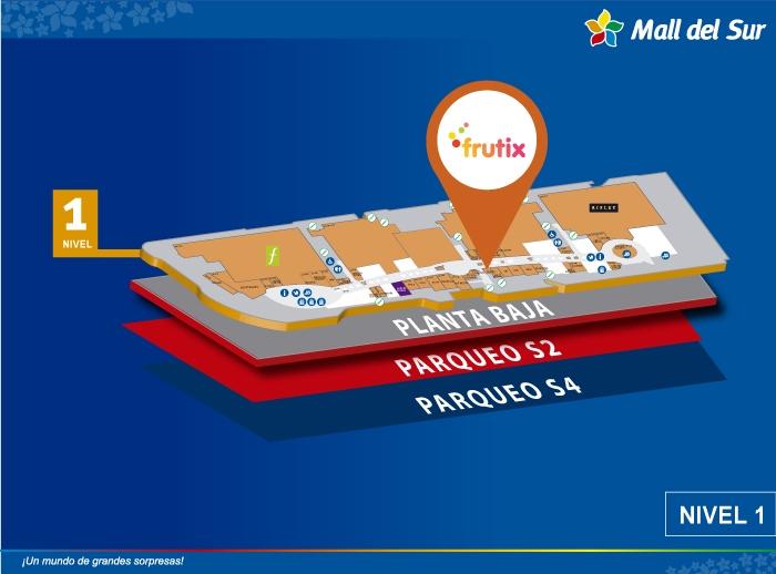 Frutix - Mapa de Ubicación - Mall del Sur