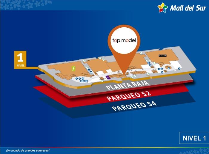 Top Model - Mapa de Ubicación - Mall del Sur
