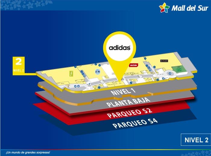 Adidas - Mapa de Ubicación - Mall del Sur