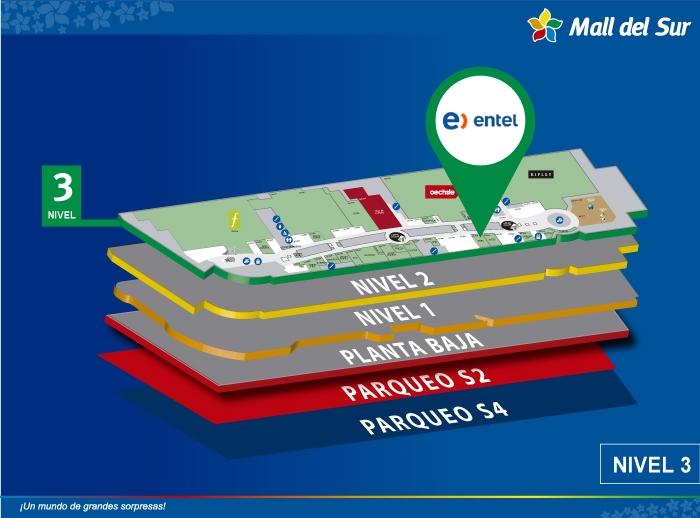 Entel - Mapa de Ubicación - Mall del Sur