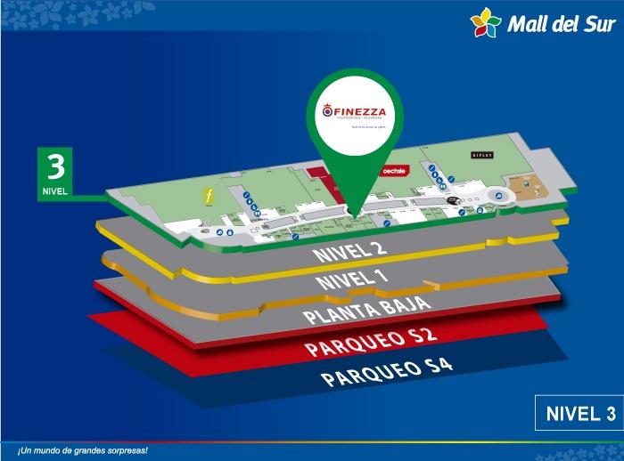 Finezza - Mapa de Ubicación - Mall del Sur