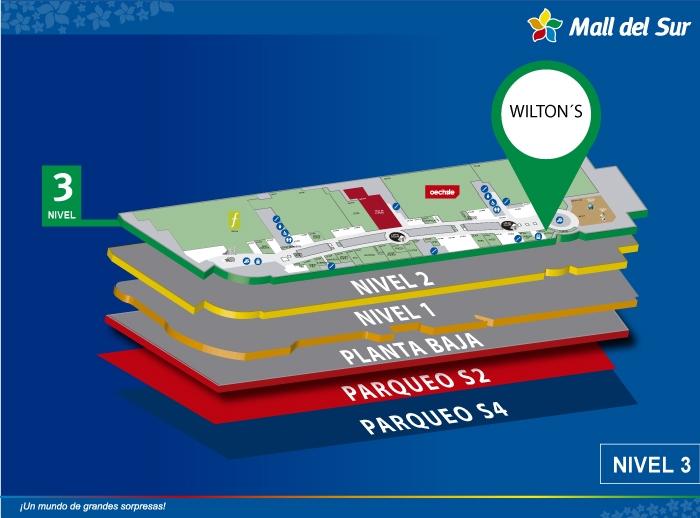 Wilton's - Mapa de Ubicación - Mall del Sur