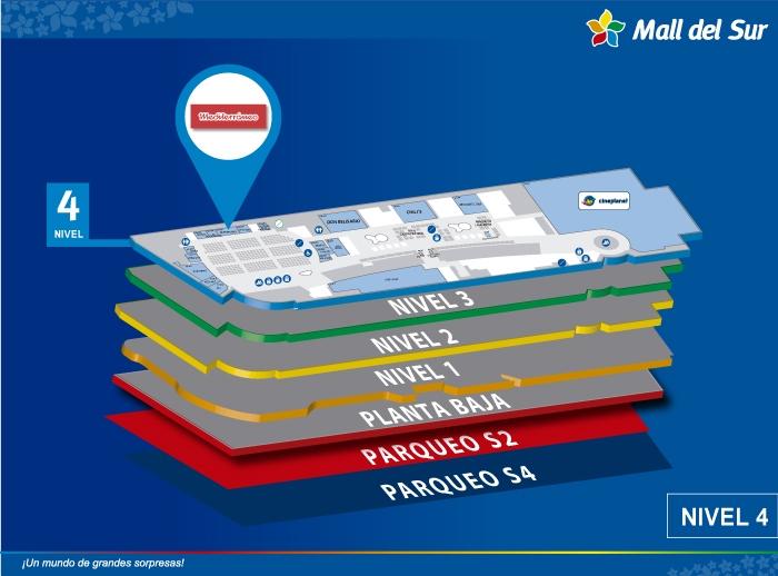 Mediterraneo - Mapa de Ubicación - Mall del Sur