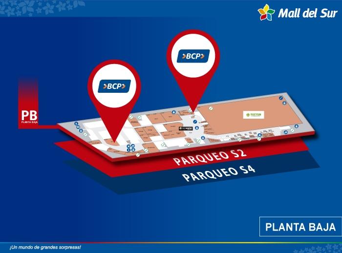 BCP - Mapa de Ubicación - Mall del Sur