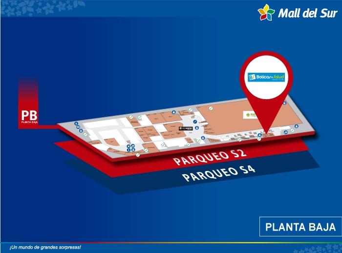 Boticas & Salud - Mapa de Ubicación - Mall del Sur