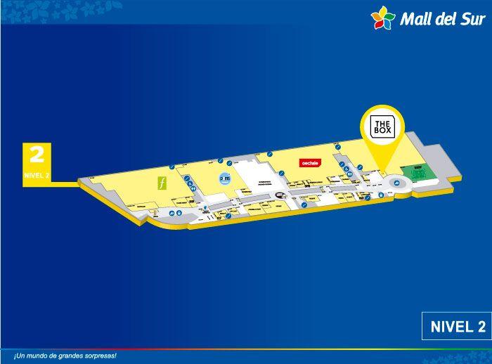 The Box - Mapa de Ubicación - Mall del Sur