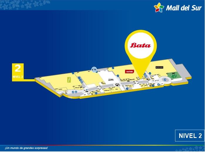 Bata - Mapa de Ubicación - Mall del Sur