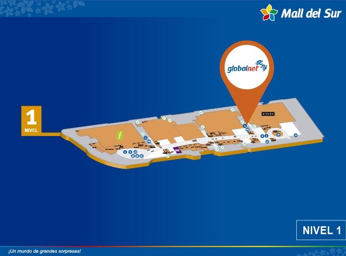 Cajero Globalnet - Mapa de Ubicación - Mall del Sur