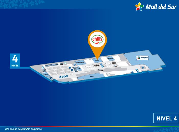 Chili´s - Mapa de Ubicación - Mall del Sur