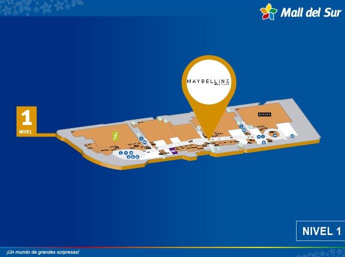 Maybelline - Mapa de Ubicación - Mall del Sur
