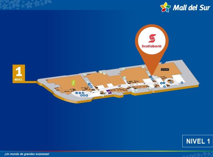 Cajero Scotiabank - Mapa de Ubicación - Mall del Sur