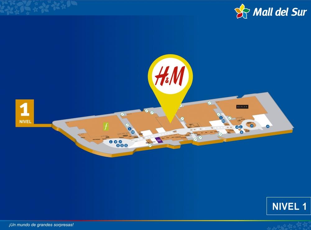 H & M - Mapa de Ubicación - Mall del Sur