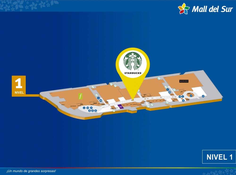 Starbucks - Mapa de Ubicación - Mall del Sur