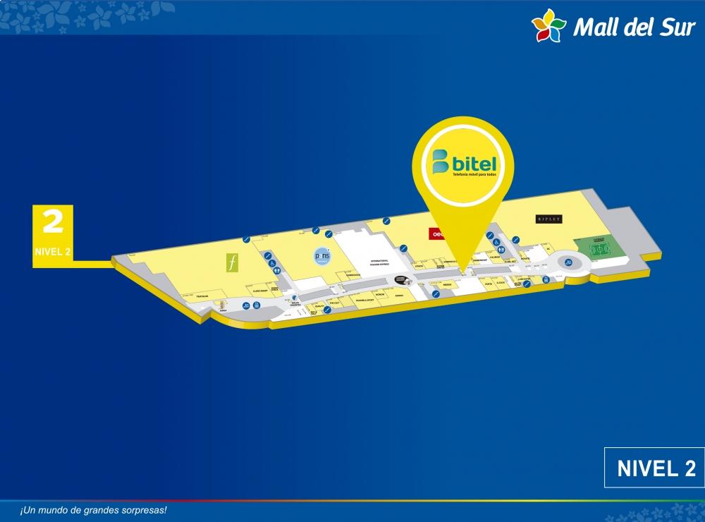 Bitel - Mapa de Ubicación - Mall del Sur