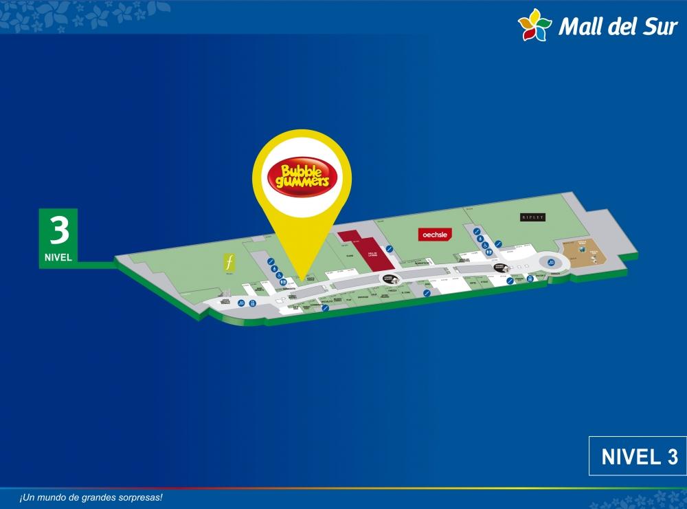 Bubble Gummers - Mapa de Ubicación - Mall del Sur
