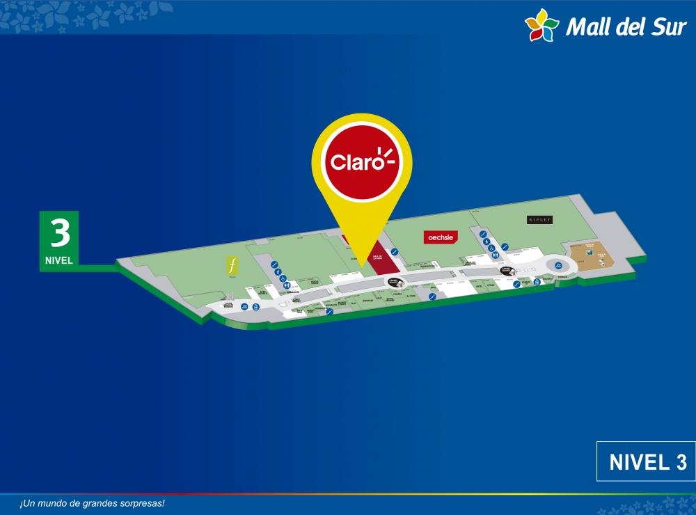 CLARO - Centro de Atención al Cliente - Mapa de Ubicación - Mall del Sur