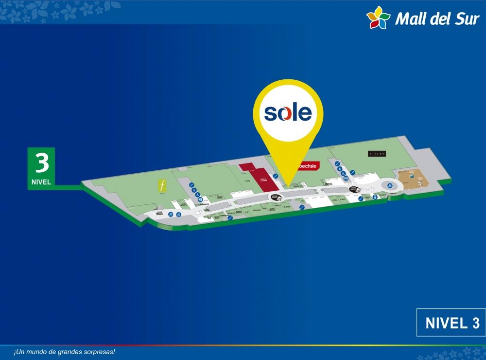 Sole - Mapa de Ubicación - Mall del Sur