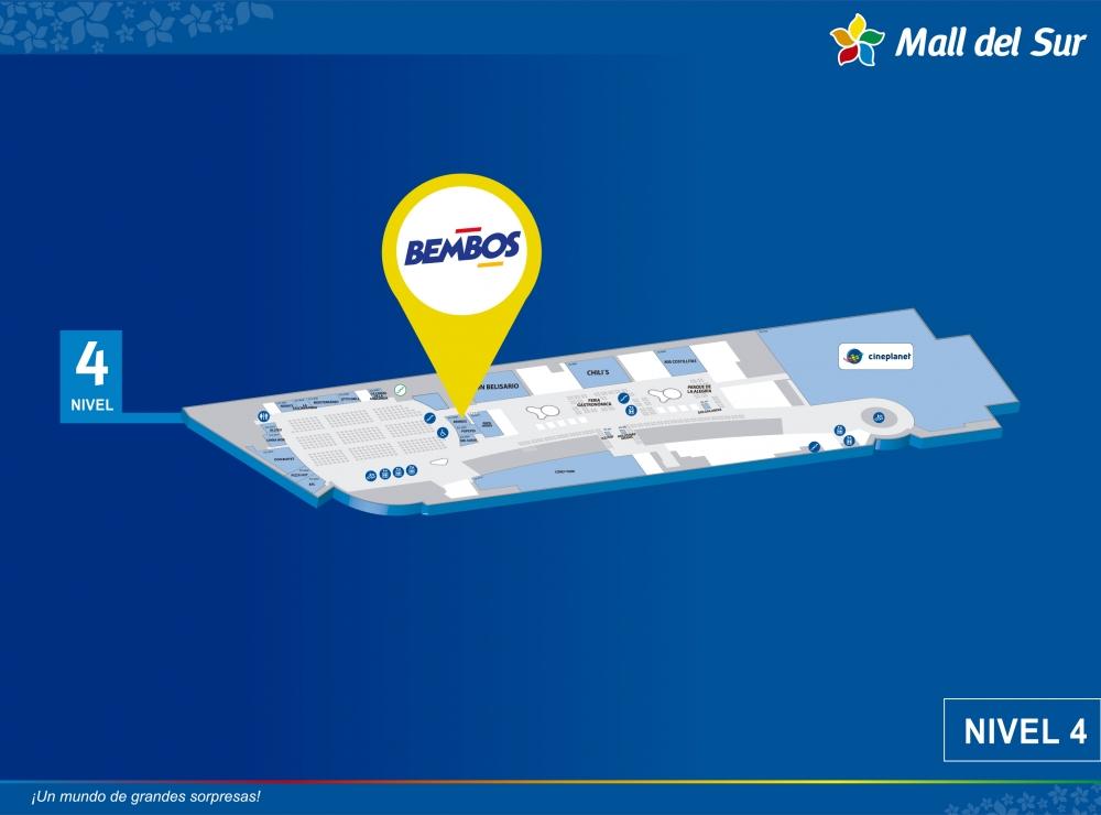 Bembos - Mapa de Ubicación - Mall del Sur