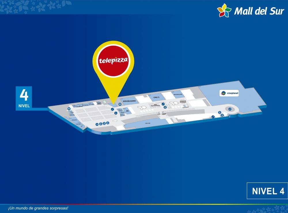 Telepizza - Mapa de Ubicación - Mall del Sur