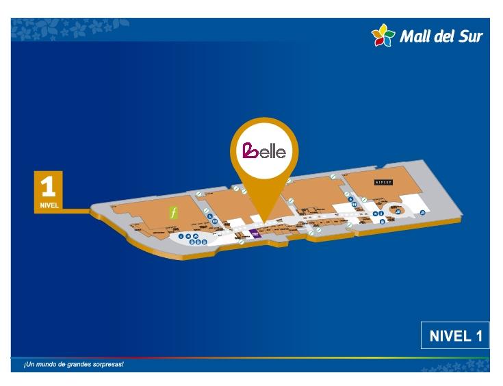 Belle Accesorios - Mapa de Ubicación - Mall del Sur