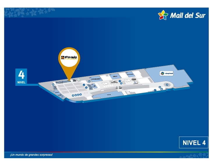 Otto Grill - Mapa de Ubicación - Mall del Sur