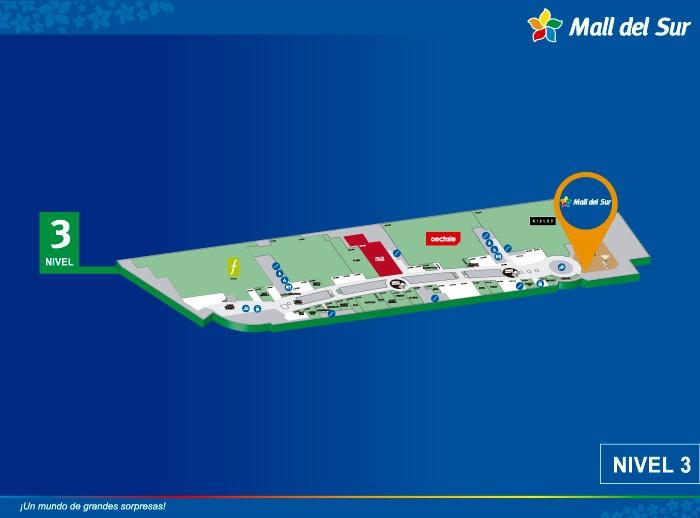 Sala de Lactario - Mapa de Ubicación - Mall del Sur