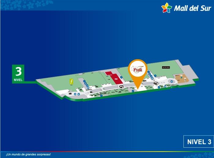 Forli - Mapa de Ubicación - Mall del Sur