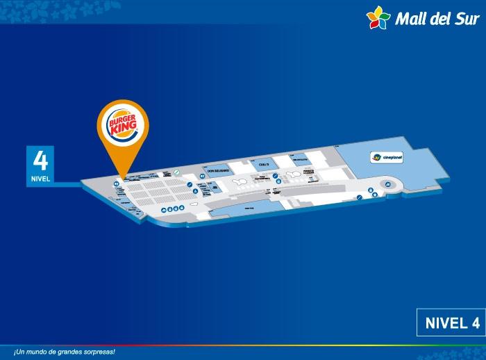 Burger King - Mapa de Ubicación - Mall del Sur