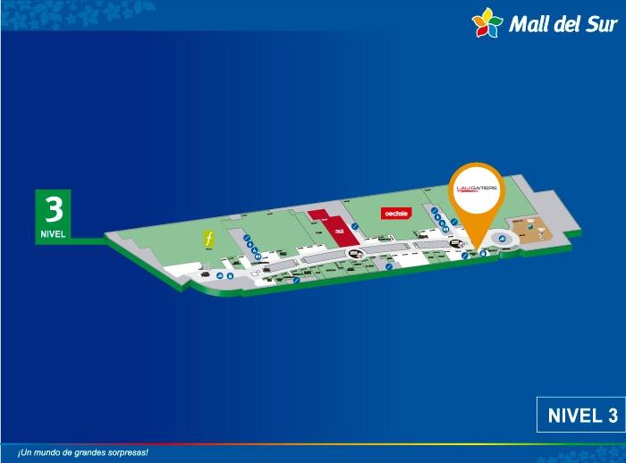 Law Gamers - Mapa de Ubicación - Mall del Sur