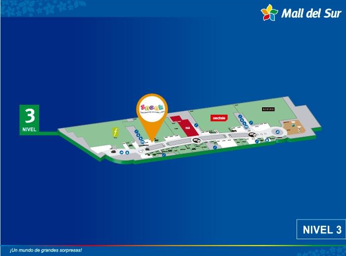 Sneak - Mapa de Ubicación - Mall del Sur