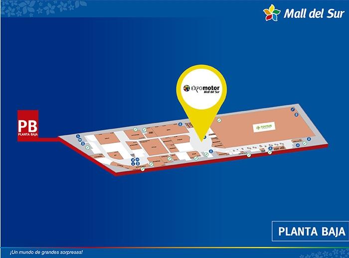 Expomotor - Mapa de Ubicación - Mall del Sur