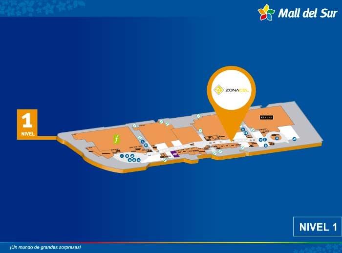 Zona Cel  - Mapa de Ubicación - Mall del Sur