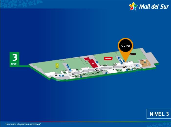 Lupo - Mapa de Ubicación - Mall del Sur