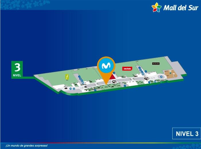 MOVISTAR CAC - Mapa de Ubicación - Mall del Sur