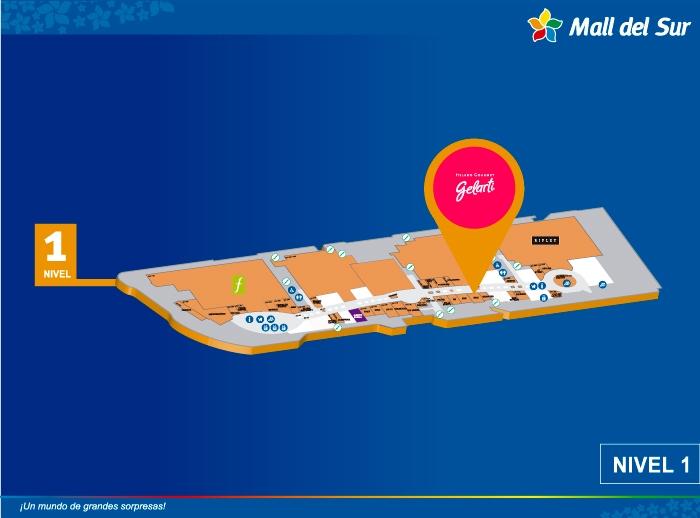 GELARTI  - Mapa de Ubicación - Mall del Sur