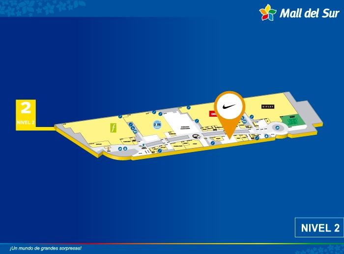 Nike - Mapa de Ubicación - Mall del Sur
