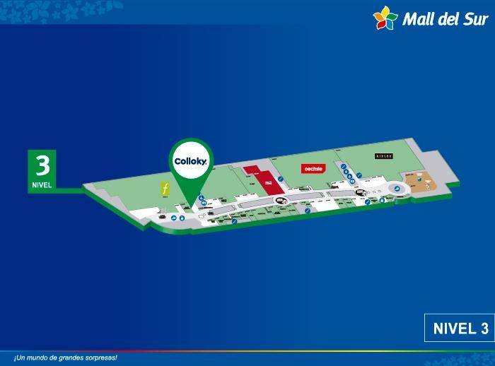 Colloky - Mapa de Ubicación - Mall del Sur