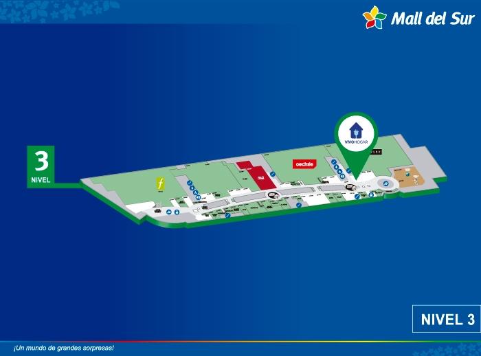 Vivo Hogar - Oster - Mapa de Ubicación - Mall del Sur