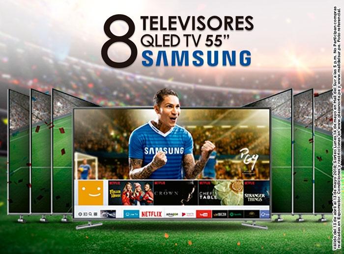 """Gana 8 televisores QLED TV 55"""" Samsung - Mall del Sur"""