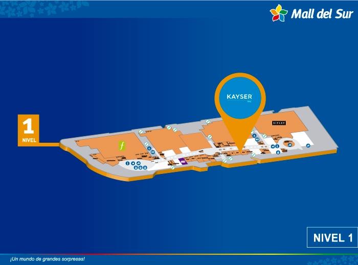 KAYSER - Mapa de Ubicación - Mall del Sur