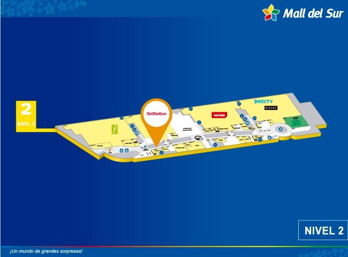 MEDITERRÁNEO - Mapa de Ubicación - Mall del Sur
