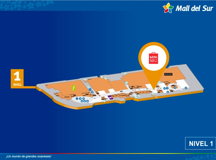 Miniso - Mapa de Ubicación - Mall del Sur