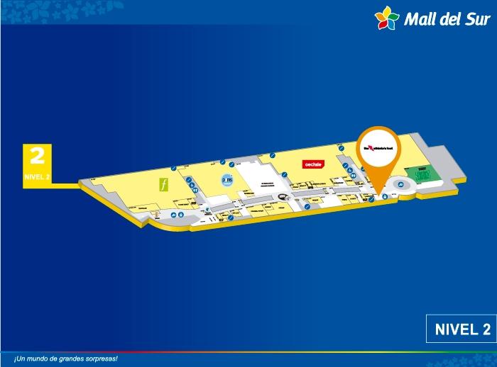 THE ATHLETES FOOT - Mapa de Ubicación - Mall del Sur